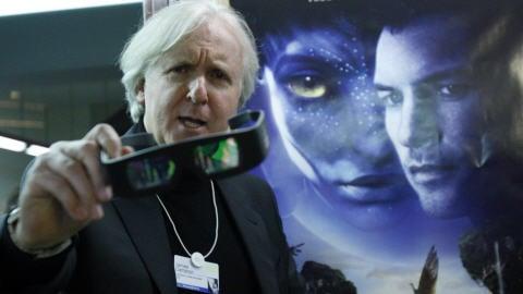 James Cameron lors du lancement de son film, à Davos.