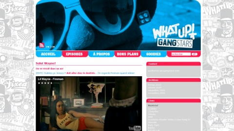 Le site What's up Gangstars