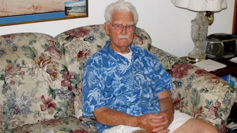 John Babcock était le dernier vétéran canadien de la Première Guerre mondiale. Une photo prise en 2007, dans sa maison.