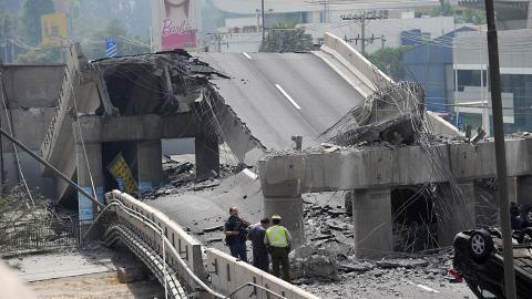 À Santiago, des infrastructures routières ont été lourdement endommagées.