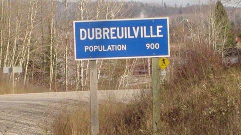 Pancarte de Dubreuilville