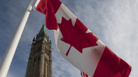 Le drapeau canadien