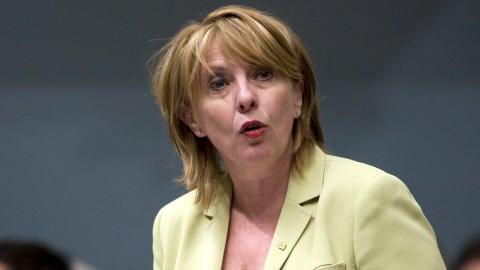 La ministre de la Culture et des Communications du Québec, Christine St-Pierre, à l'Assemblée nationale, le 26 mai 2009