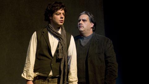 Dominique Côté et Marc Hervieux interprètent tous deux le rôle d'Émile Nelligan dans «Nelligan».