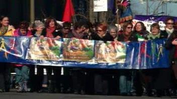 ARCHIVES : une autre manifestation à Montréal, cette fois à la veille de la journée mondiale de la femme