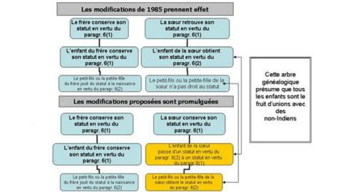 Tableau récapitulatif qui tient compte des changements apportés à la loi en 1985 et ceux proposés par le projet C-3