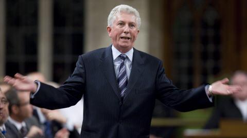 Gilles Duceppe à la Chambre des communes, en octobre 2009