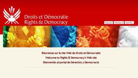 Le site web de Droits et démocratie