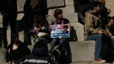 Manifestation contre le budget Bachand