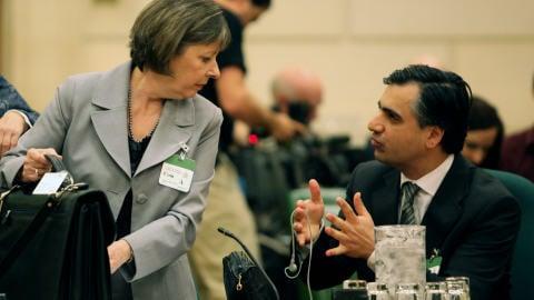 Suzanne Trépanier et Payam Akhavan, ancien membre