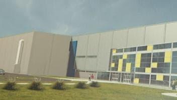 La maquette de l'aréna qui serait construit au centre Alphonse-Desjardins.