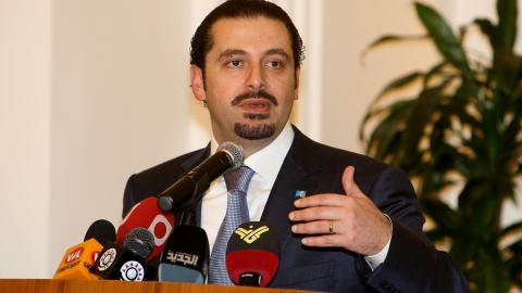 Le premier ministre libanais Saad Hariri