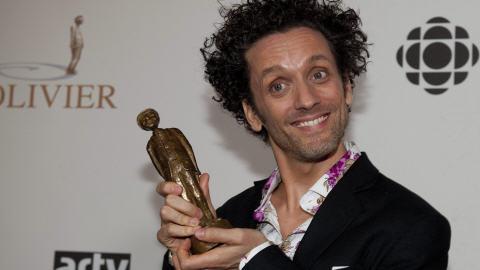 André Sauvé gagnant de l'Olivier du meilleur numéro d'humour