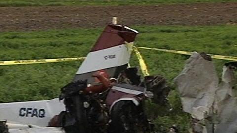 L'avion s'est écrasé en après-midi mercredi
