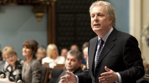 Le premier ministre Jean Charest à l'Assemblée nationale à Québec
