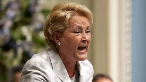 La chef du PQ, Pauline Marois, à l'Assemblée nationale à Québec