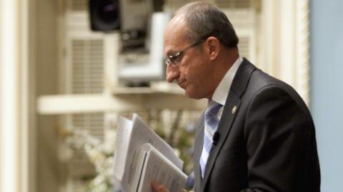 Yvon Vallières, président de l'Assemblée nationale