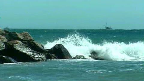 La mer aux abords de Old Harry