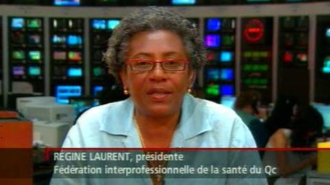 Régine Laurent, présidente de la FIQ, en entrevue à RDI