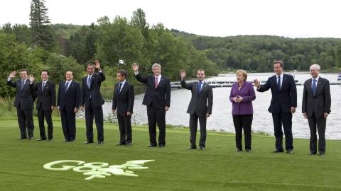 Les dirigeants du G8 réunis à Huntsville, au Canada