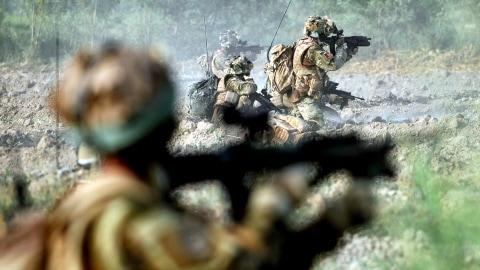 Des soldats de l'OTAN dans la province de Helmand, le 26 juin 2010
