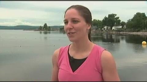 La nageuse Heidi Levasseur
