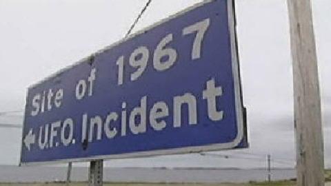 Indication du site où aurait été aperçu un ovni en 1967