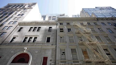 Le site prévu du centre islamique, non loin de Ground Zero, à New York