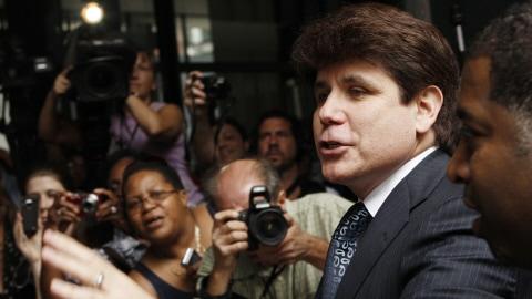 L'ex-gouverneur Rod Blagojevich après la tombée du verdict