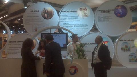 Le kiosque de Total Canada au Congrès mondial de l'énergie