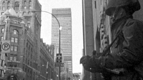 Soldats dans les rues de Montréal
