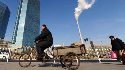 Une centrale thermique au coeur de Pékin.