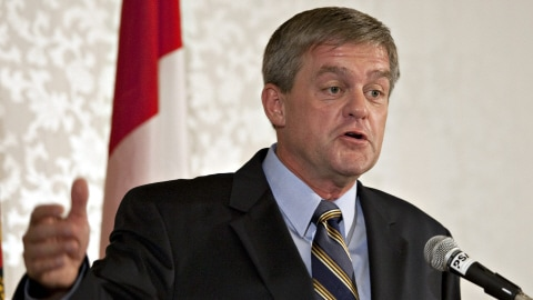 Le premier ministre élu David Alward