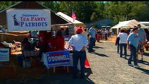 Rassemblement de militants du Tea party au Delaware