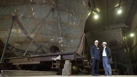 Stephen Harper visite le chantier naval Méridien Maritime