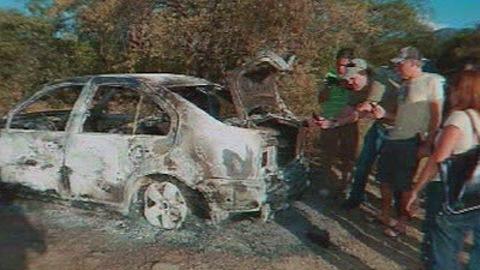 La voiture dans laquelle le corps de Daniel Dion a été retrouvé.