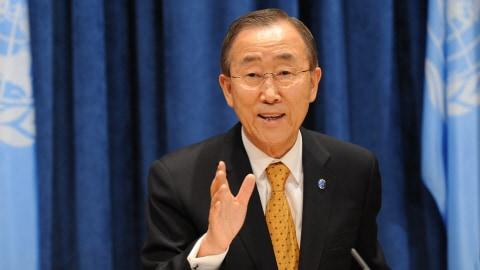 Le secrétaire général de l'ONU Ban Ki-Moon