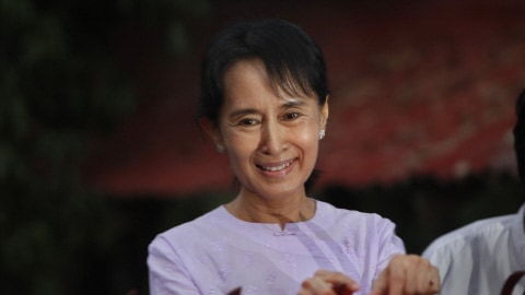 Aung San Suu Kyi peu après sa libération