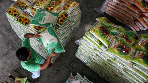 Un entrepôt de riz