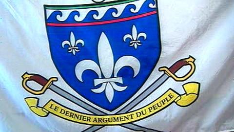 Le drapeau de la milice québécoise