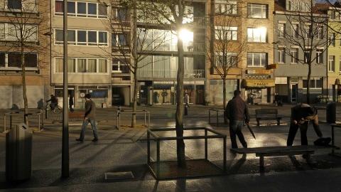 Un des lieux, à Anvers, où des présumés terroristes ont été interpellés.