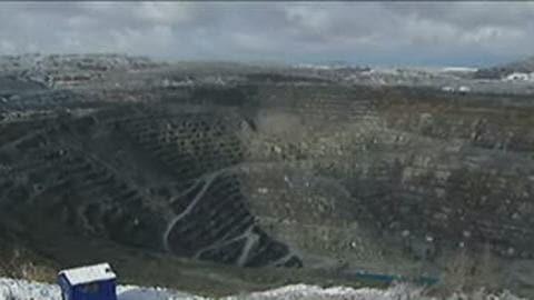 Mine souterraine à Asbestos