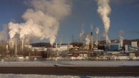 L'usine de Tembec à Témiscaming