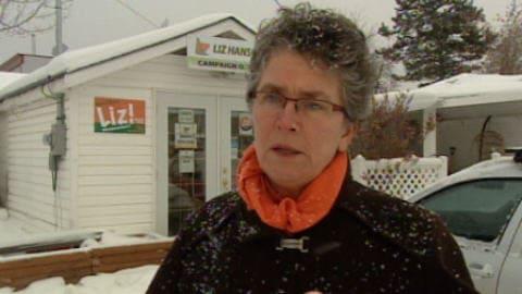 La candidate Liz Hanson