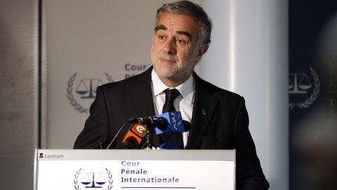 Le procureur de la CPI, Luis Moreno-Ocampo.