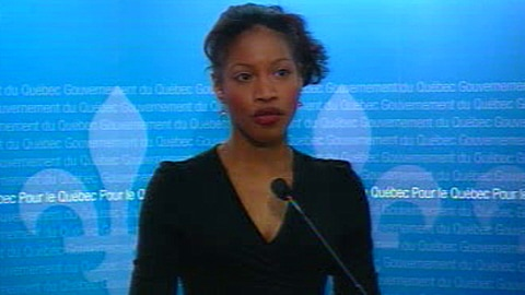 La ministre Yolande James