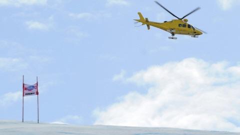 L'hélicoptère transportant Louis-Pierre Hélie