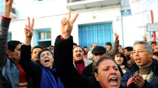 Manifestation à Tunis, le 27 décembre