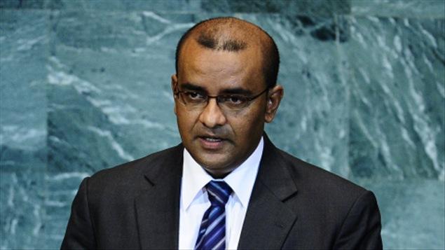 Le président guyanais Bharrat Jagdeo, lors de la 65e Assemblée générale des Nations unies (24 septembre 2010)