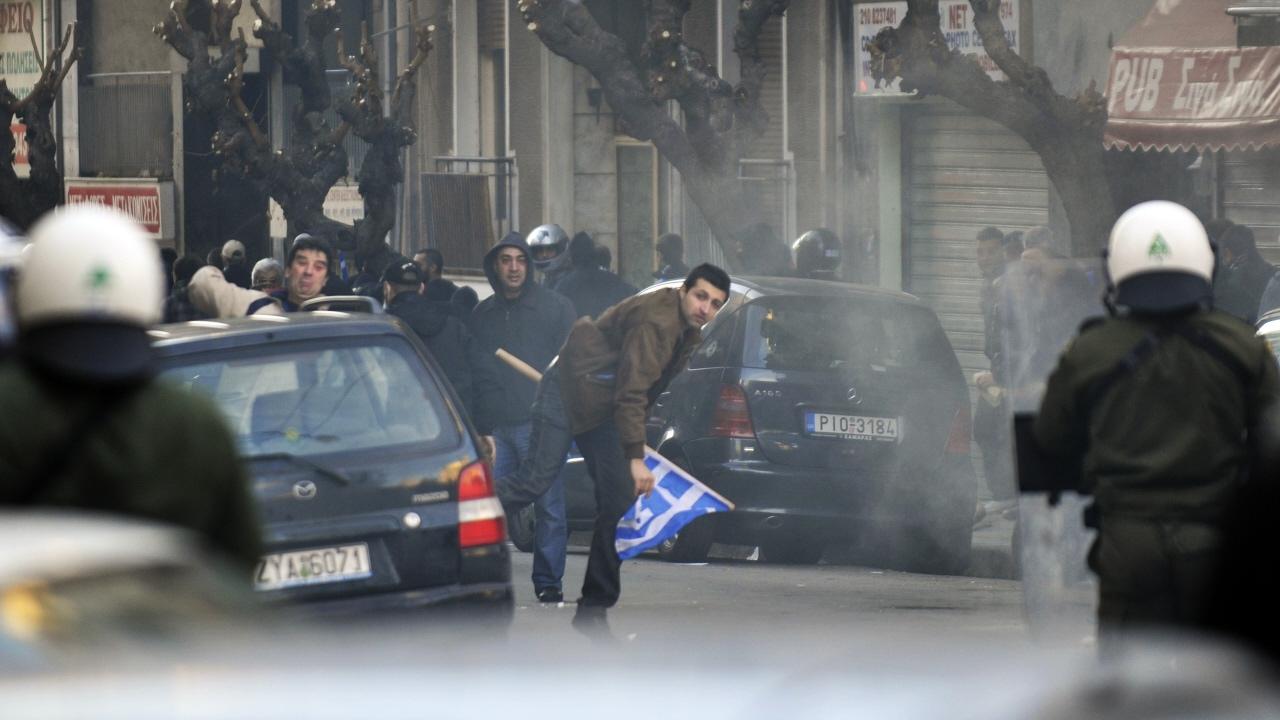 Manifestations sur l'immigration, à Athènes